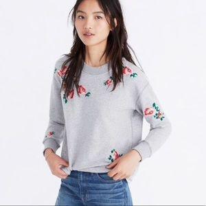 Madewell Embroidered Floral Sweatshirt